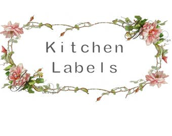 Beautiful Vintage Victorian Chic Shabby Pink Rose Frame Kitchen Labels Waterslide Water Slide Iron On Transfer Miniature Craft Decals lb44