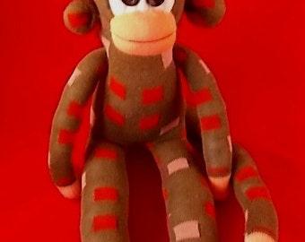 Handmade Baby Sock Monkey Soft Toy