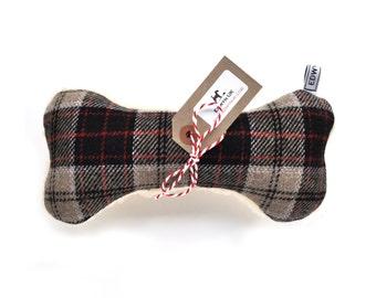 Wool Fleece Squeaker Bone Dog Toy