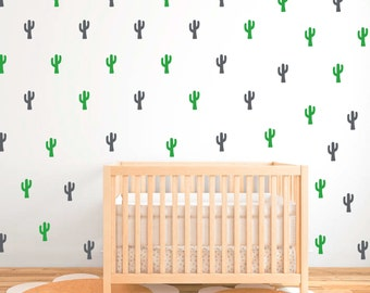 Wall pattern cactus decals in two colors Multiple sets available DB412