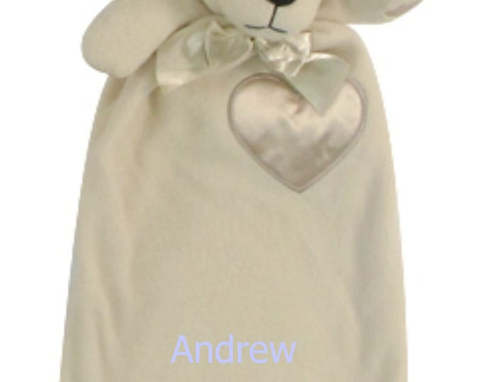 Free Personalization Puppy Minky Security Blanket,  Security Blanket, Embroidered Baby Keepsake