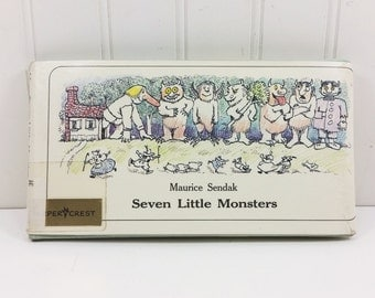 Seven Little Monsters by Maurice Sendak, 1977 First Edition Book on Counting Monsters