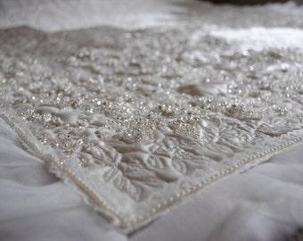 Personalised Custom Keepsake Wedding Dress Memory Quilt Cushion Bed Runner Throw