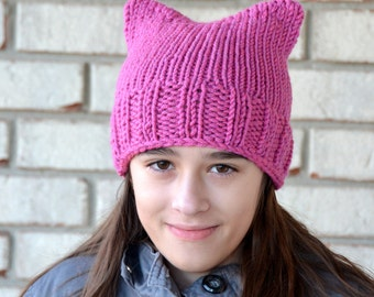Pussyhat | Bulky Soft Yarn | Women's rights pussy hat