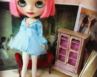 Blythe Silk Dress - Medium Blue