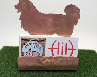 Great Pyrenees Business Card Holder, Copper Dog Desk Accessory, Dog Breeds Great Pyrenees Mountain Dog