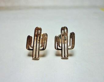 Cactus Stud Earrings, Dainty Earrings