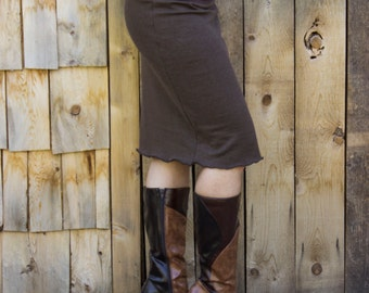 Hemp Fleece Pencil Skirt - Made to Order - Several Colors to Choose From - Hemp and Organic Cotton