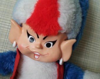 Vintage UNION GAS GENIE Doll Rare 1960s Union Gas Advertising Mascot Natural Gas plush doll