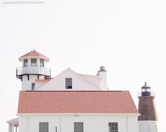 Lighthouse Photograph, Art Print, Beach Decor, Nautical Home Decor, Modern, Point Judith, Rhode Island, Powder Room Art, Coastal, Minimalist