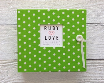 Lime Green Baby Dot | BABY BOOK