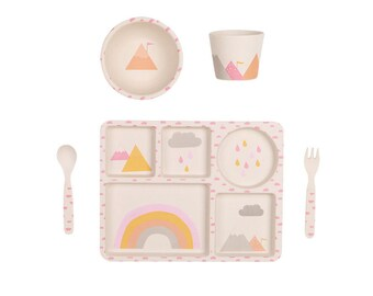 Bamboo Dinnerware - Rainbows - (FDA & LFGB food safe approved)