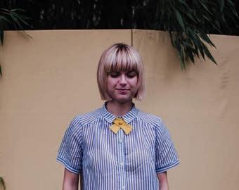 Womens Bow Tie in yellow, ladies tie necktie, bolo ties