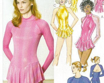 Kwik Sew 3272 UNCUT Misses Skirted Leotards and Skating Costume Sewing Pattern Size XS - XL Bust 31.5-45