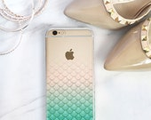 Mermaid Tail iPhone 7, 6S, Plus Case Clear, Gift For Her, Best Friend Christmas Gift Ideas Mermaid Phone Case