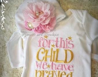 Newborn Girl Coming Home Outfit,Newborn Girl Gown,White and Pink Coming Home Outfit,Baby Girl Take Home Outfit,Newborn Girl Layette
