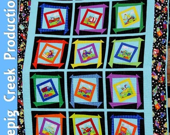 Silly Trucks Quilt - PDF