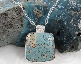 Leland Bluestone pendant necklace with sterling silver
