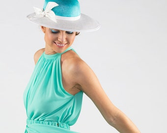 Azure - Two toned brimmed hat