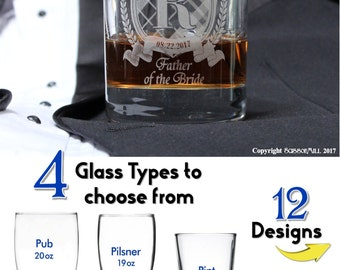 Personalized mens Wedding Whiskey Glass Personalized Liquor Glass Drinking Gifts Custom Drinking Glasses Old Fashioned Glasses