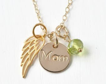 Loss of Mom Sympathy Gift / Necklace for Loss of Mother / In Memory of Condolence Gift / Personalized Memorial Jewelry Gold Fill