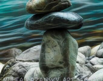 Digital Download Fine Art Photography Inspirational art Instant Download printable art Home Decor Zen Rocks photography Balance Relaxation
