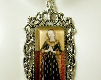 Virgin Mary pendant with chain - AP12-313