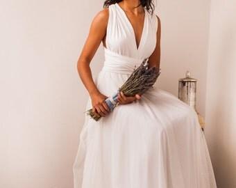 Swiss dot tulle empire waist wedding gown, swiss dot tulle wedding gown, empire waist wedding gown, swiss dot wedding gown, wedding gowns