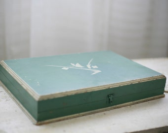vintage flatware storage box