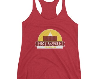 Fort Asshole Camp Counselor tank | vintage camp tank | yoga | work out clothing | racerback