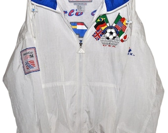 Vintage 90s 1994 WORLD CUP USA Tracksuit Track Jacket & Pants Deadstock Unworn New L