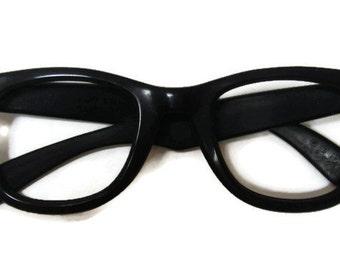 Vintage Mens RayBan Black Wayfarer Eyeglasses Frames