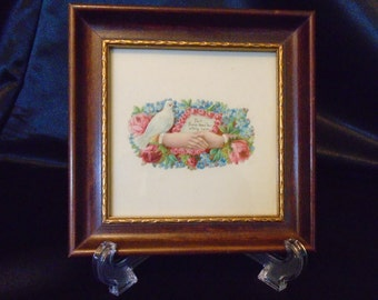 Antique Victorian Framed Valentine Calling Card