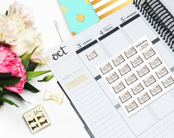 JW Bible Reading Floral Vertical Planner JW Gift Sticker Glossy - Stick to Your Story