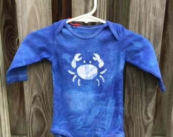 Crab Baby Bodysuit, Blue Crab Baby Bodysuit, Maryland Crab Baby Gift, Baby Boy Crab Bodysuit, Baby Girl Crab Bodysuit (6 months)