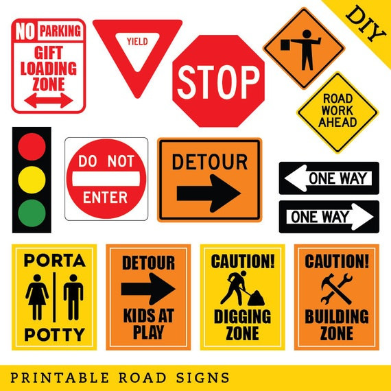 Remarkable image in free printable construction signs