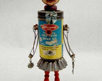 Assemblage Art Doll Vintage Garden Flower Patch Patty