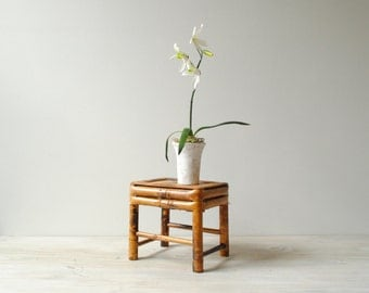 Vintage Bamboo Plant Stand, Display Stand