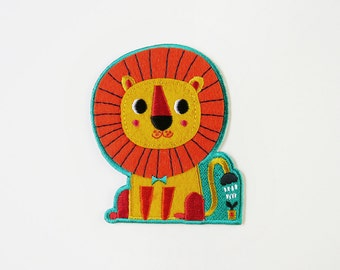 Be Brave and Kind Iron On Patch - Little Lion Embroidered Patch - Cute Embroidered Applique - Wearable Art
