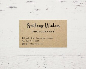 Brown kraft paper business cards Etsy