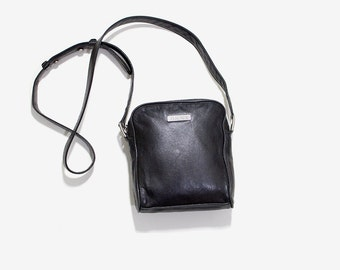 Vintage Mini Purse / Mini Leather Purse / Black Leather Bag / DKNY Purse / Mini Crossbody Purse / Leather Crossbody Bag