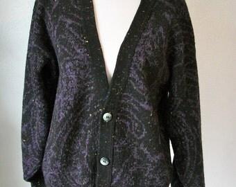 Soft oversize cardigan - CONFETTI blend - Deep V - Cambio Italia - size XL XXL