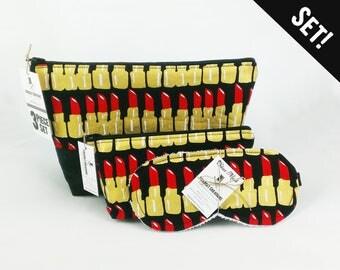 Lipstick Toiletry Bag Set Best Makeup storage gift makeup organizer dopp kit gift set cosmetic bag wash bag gift under 40 vegan dopp bag kit