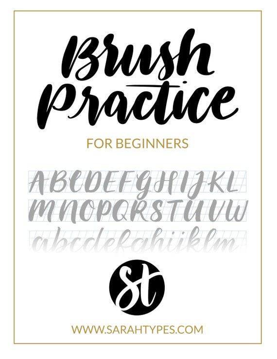 brush lettering alphabet brush lettering practice sheet downloadable calligraphy 20686 | il 570xN.1151324357 py0t