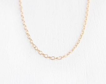 Choker Necklace - 14k Gold Filled or Sterling Silver - Claudia