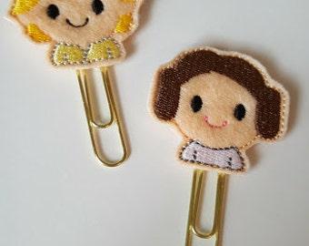 Star Wars Luke or Princess Leia planner paper clip