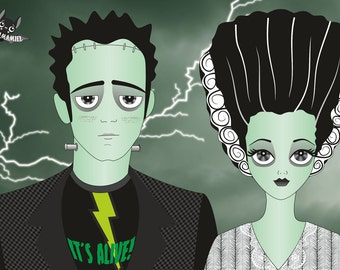 Frankenstein creature The bride of frankenstein Print 4x6
