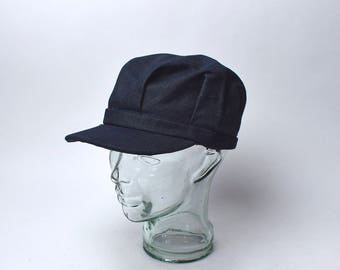 Denim Engineer Cap by Broner, Size Medium