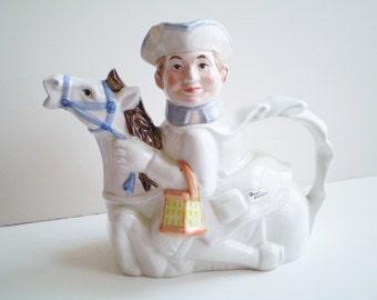 RESERVED, Vintage Teatime Legends Paul Revere Teapot, Teatime Legend Teapot, Paul Revere Teapot, Unique Teapots