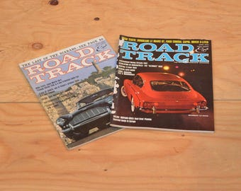 Vintage Set Of Two 1962 Road & Track, Classic Collector Car Magazines